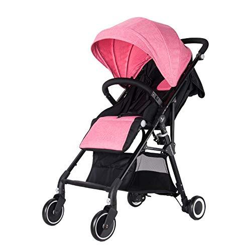 Y&XF Cochecito de bebé para recién Nacidos y niños pequeños - Cochecito de Cuna Convertible Cochecito de bebé Individual Compacto Cochecito de Asiento de niño pequeño Carrito de Lujo,D