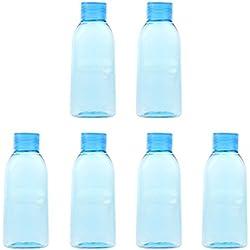 6 Piezas De Plástico Recargables Botellas De Enjuague Bucal De Viaje Vacías Lavaojos Champú Lociones Contenedores 100 Ml 250 Ml - Azul 100ml