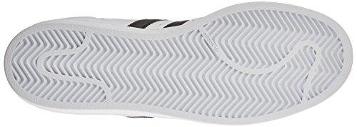 Adidas Damen Superstar Toe Trainer Basso Weiß (calzatura Bianco / Nero / Argento Metallizzato)
