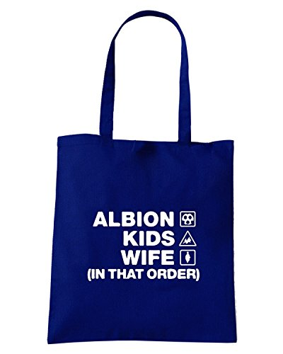T-Shirtshock - Borsa Shopping WC1103 west-brom-albion-kids-wife-order-tshirt design Blu Navy