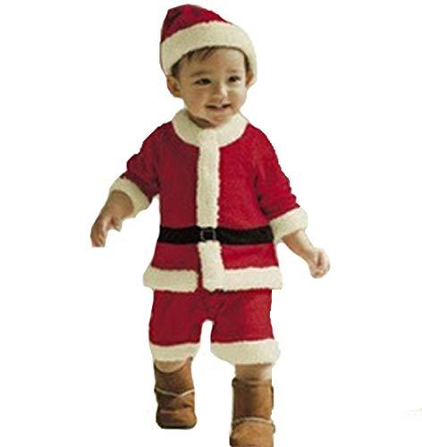 Santa Baby Kostüm Claus Jungen - Dethos Weihnachtsmannkostüm Baby Kinder Weihnachtsmann kostüm Weihnachts Pullover Weihnachten Xmas Bekleidung Jungen Mädchen Weihnachtsmann Schneemann Nikolaus Santa Claus mit Rentier