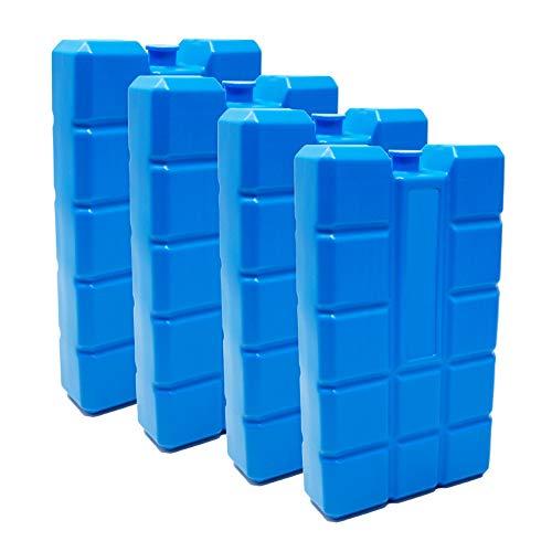 ToCi 4er Set Kühlakku mit je 400 ml | 4 Blaue Kühlelemente für die Kühltasche oder Kühlbox