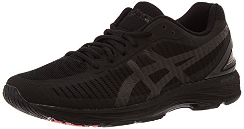 ASICS Herren Gel-DS Trainer 23 Laufschuhe, Schwarz Black/Flash Coral 9090, 42.5 EU (Gel Schuhe Flash Running Asics)