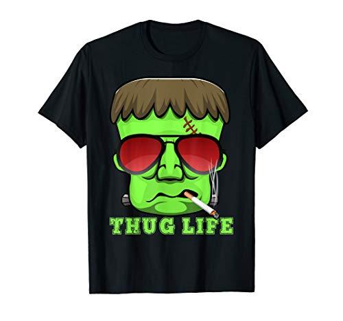 Monster Frankie Halloween lustiges Monster-Rauchgeschenk T-Shirt