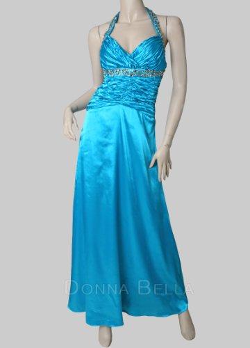 Bella Donna -  Vestito  - Sera  - Senza maniche  - Donna blu acqua
