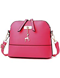 Generic Women Vintage PU Leather Shoulder Bags Shell Model Handbag (25*10*19cm)