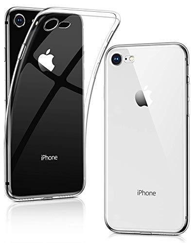Humixx iPhone 8 Hülle, iPhone 7 Hülle, Hochwertigem Anti-gelb TPU Silikon Stoßfest, Anti-Fingerabdruck, Anti-Scratch Transparent Soft Hülle Crystal Clear Weich Handyhülle für iPhone 8/7-Klar Cool Silikon