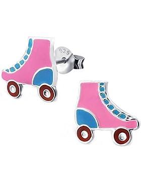 SL-Silver Kinder Ohrringe Rollschuh Skater 925 Silber in Geschenkbox