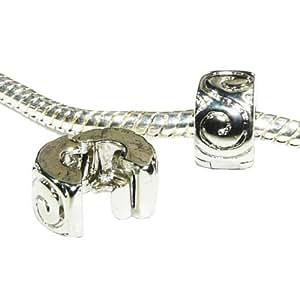 Hidden Gems (922) - 1 x Argent plaqué clip / Bouchon pour Bracelets européennes