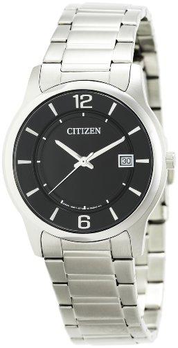 Citizen  BD0020-54E – Reloj de cuarzo para hombre, con correa de acero inoxidable, color negro