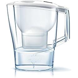 Brita Aluna Jarra Agua Filtrada con 1 Filtro Maxtra+, Blanco, 2.4 litros