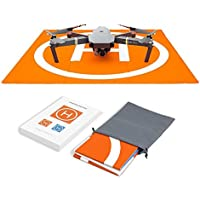 Hensych PU-Leder Wasserdicht RC Drone Lande Plattform Heliport Startrampe Landefläche für DJI Mavic Air / Mavic Pro / Spark / Phantom Serie,mit Aufbewahrung Tasche, doppelseitig Farbe Design