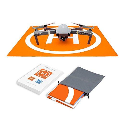 Hensych® RC Drone Landing Pad Impermeable PU portátil Plegable Landing Mat para dji Mavic Air/Mavic Pro/Spark, con Bolsa de Almacenamiento, diseño de Doble Cara de Color