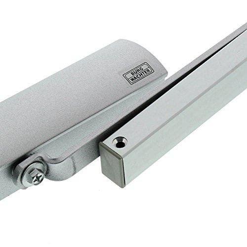 BURG-WÄCHTER Türschließer mit Gleitschiene, Türbreite bis 110 cm, Türgewicht bis 80 Kg, GTS 514 S SB, Silber - 3