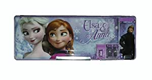 Wise Guys Frozen Print Pencil Box Case with Sharpener for kids - Purple 5