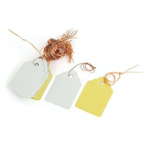 Plante en plastique Tag Hanging étiquette Marqueur 45mm x 30mm 36pcs Jaune Blanc