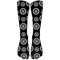 Unisex Adult Archery Target Colorado Circular Long Athletic Sport Crew Socks Long Stockings Cotton Warm