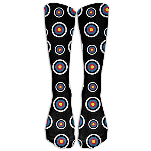Unisex Adult Archery Target Colorado Circular Long Athletic Sport Crew Socks Long Stockings Cotton ()