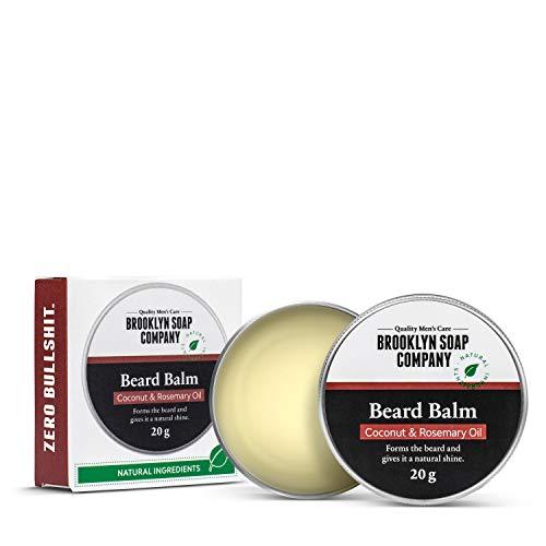 Natürliche Bartpflege: Beard Wax Bartwachs (20 gr) Naturkosmetik der BROOKLYN SOAP COMPANY für Bartstyling von 3-Tage-Bart bis Vollbart - starker Halt, leichter Glanz - Beard Balm als Geschenkidee