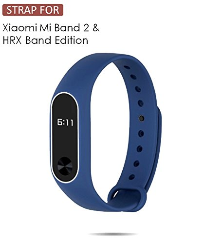 WOW Imagine Premium Dual Color Matte Silicon Wrist Band Replacement For Xiaomi MI Band 2 & Mi Band HRX Edition - Washington Blue  available at amazon for Rs.199