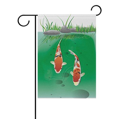 LIANCHENYI Cute Japan Koi Fische doppelseitig Familie Flagge Polyester Outdoor Flagge Home Party Decro Garten Flagge 71,1x 101,6cm (Koi-saison)