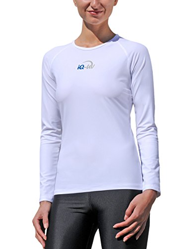 IQ-Company Damen UV-Schutz T-Shirt IQ 300 Watersport Long Sleeve, White, M, 670122_2100 (Bar Long Sleeve T-shirt)