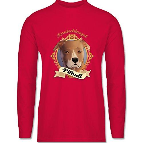 Shirtracer Hunde - Pitbull - Knutschkugel - Herren Langarmshirt Rot