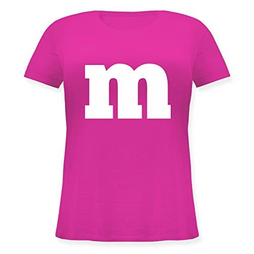 Karneval & Fasching - Gruppen-Kostüm m Aufdruck - M (46) - Fuchsia - JHK601 - Lockeres Damen-Shirt in großen Größen mit ()