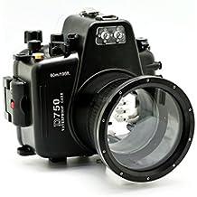 CameraPlus® 60M impermeable Buceo Carcasa para Nikon D750con lente de la siguiente: 1, Nikon AF-S micro-nikkor 105mm f/2.8G IF-ED VR. 2, Nikon AF-S Nikkor 85mm f/1.8g.3, Sigma 35mm F1.4DG HSM