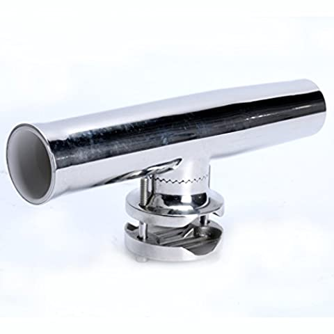 Amarine-made Stainless Tournament Style Clamp on Fishing Rod Holder for Rails 1-1/4