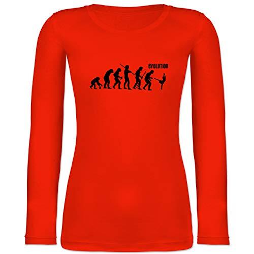 Shirtracer Evolution - Modern Dance Evolution - L - Feuerrot - BCTW071 - Langarmshirt Damen