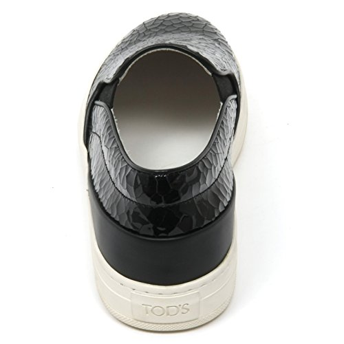 B9622 sneaker donna TOD'S scarpa vernice nero slip on shoe woman Nero