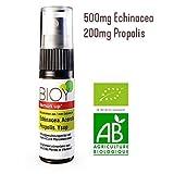 BIOY Immun UP, Bio-Halsspray. Der Immun-Booster. Abwehrkräfte-natürlich-stärken und Erkältung vorbeugen mit 500mg Echinacea, 200mg Propolis, Acerola. DE-Öko-007