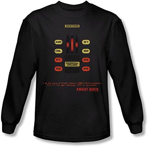 Knight Rider - Männer Kitt Consol Langarm-Shirt In Black Black