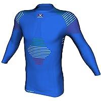 X-Bionic - Junior Invent UW SL, Camiseta de Manga Larga Unisex, Ropa Interior técnica Multisport, para niño, Unisex Adulto, Junior Invent UW Shirt Long_SL, BLU Italia
