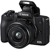 Canon EOS M50 Bk M15-45mm Fotoğraf Makinesi, 4K, Siyah, 2 Yıl Canon Eurasia Garantili
