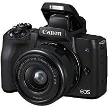 Canon Italia EOS M50 + EF-M Fotocamera Mirrorless, Nero, Lunghezza Focale 15-45 mm