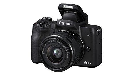 Canon EOS M50 spiegellose Systemkamera (24,1 MP, dreh-und schwenkbares 7,5cm (3 Zoll) Touchscreen-LCD, Digic 8, 4K Video, OLED EVF,WLAN, bluetooth) + EF-M 15-45mm IS STM Objektiv schwarz Digital Still Camera Kit