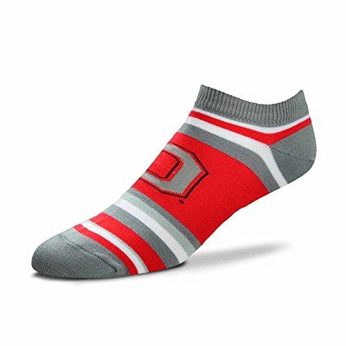 For Bare Feet Herren NCAA Lotta Stripe No Show Dress Socks, Gr. L (38-13), Herren, Ohio State Buckeyes, Large (10-13) (Buckeyes State Männer Ohio Schuhe)