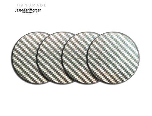 Lega Centro di rotella di Cap Badge per Vw Mini MG Ford (CLR 55mm), Autoadesivo, Argento, carbonio - Centro Di Rotella Cap
