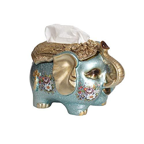 igh-end kreative Tissue Box Esstisch Tissue Box Wohnzimmer Aufbewahrungsbox niedlichen Elefanten Desktop Papier Box (Farbe : C) ()