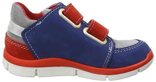 Ricosta  Nils, Sneakers Basses Garçons Bleu - Blue (Tinte/Rosso 350)