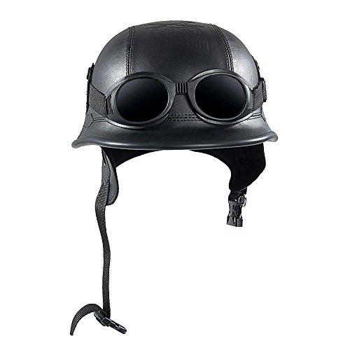 KKmoon Casco Moto Vintage Gafas Casco Protección
