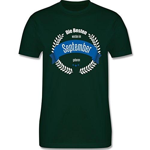 Geburtstag - Die Besten werden im September geboren - Herren Premium T-Shirt Dunkelgrün