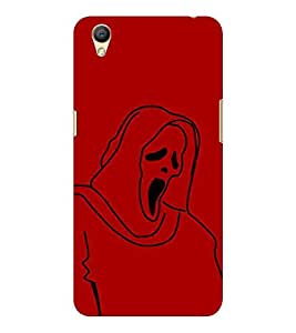 HiFi Designer Phone Back Case Cover Oppo A37 :: Neo 9 ( Scary funny Ghost )