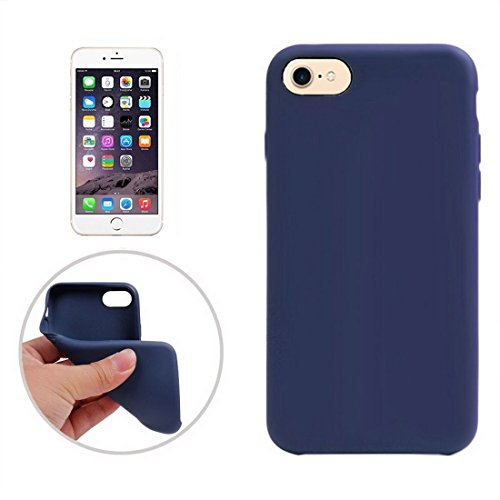 iPhone Case Cover Pour iPhone 7 Classic Smooth Surface Soft TPU Étui de protection ( Color : White ) Dark blue