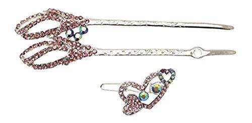 Cheveux Accessoires pour Femmes avec une Petite pince avec Motif Diamant Couleur Rose Pâle