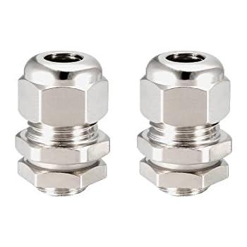sourcing map Presse-/étoupe M12 Joints /étanche m/étallique fil 3mm-6.5mm/Ø