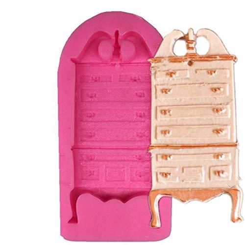 lyward Fondant Silikonform Closet Cake Dekoration Kommode, 2Er Pack -