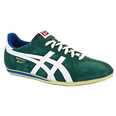 Onitsuka Tiger Runspark Og Su Mens Suede & Leather Laced Trainers Forest - 8